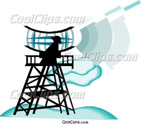 radar antenna Vector Clip art.