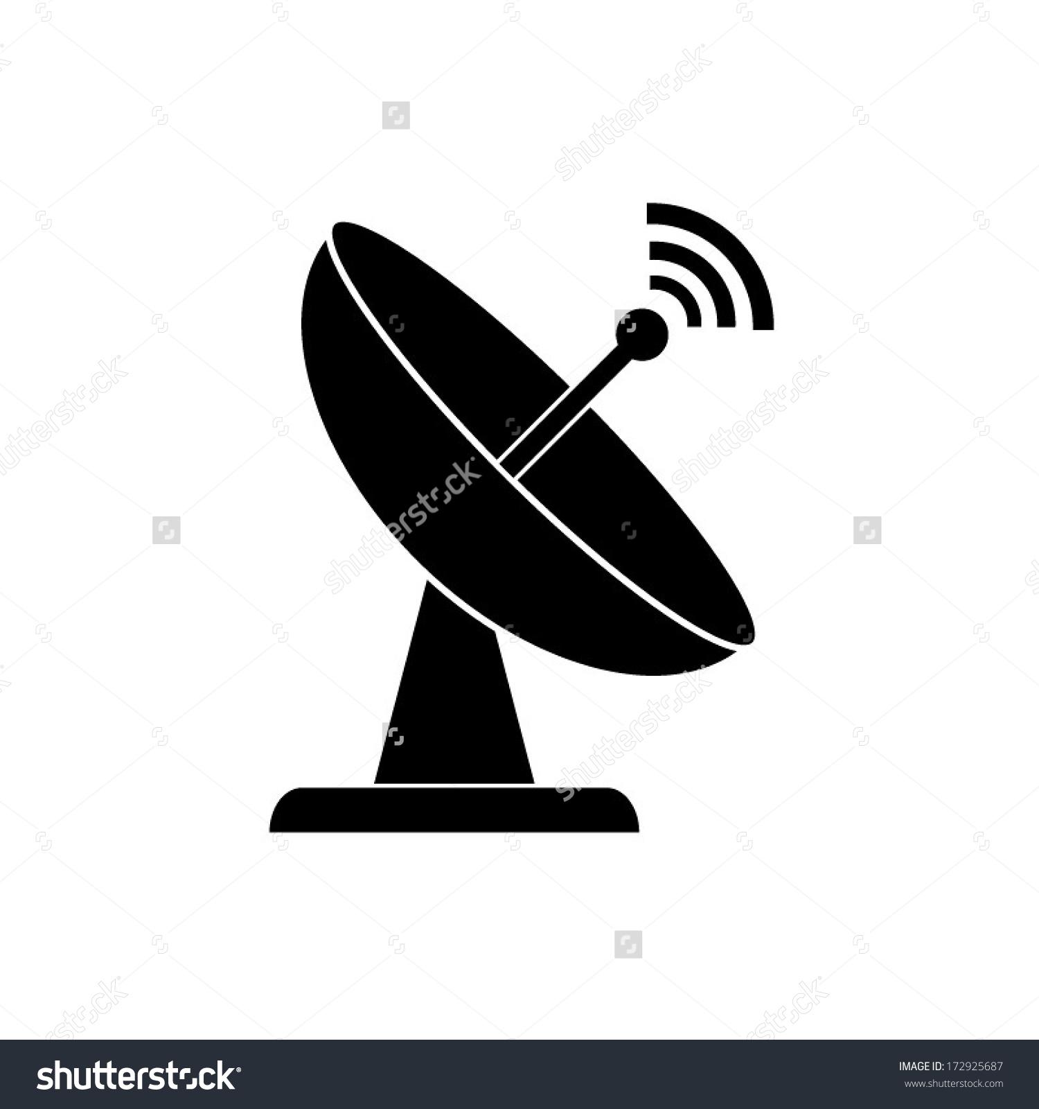 Radar Satellite Dish Vector Icon Stock Vector 172925687.