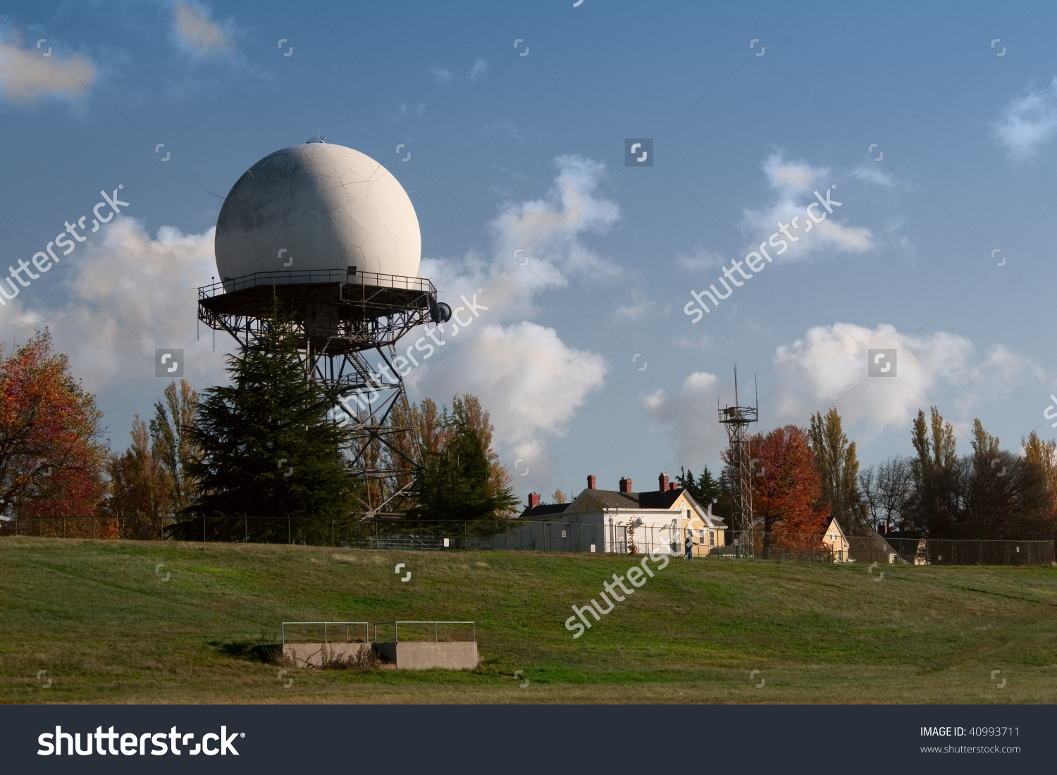 An Faa Radar Dome, Built In 1959, At Fort Lawton, A Closed United.