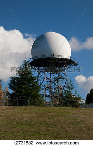 Stock Photo of FAA Radar Dome at Army Base k2731582.