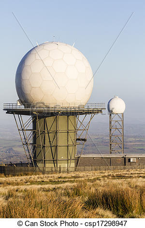 Stock Photo of Titterstone Clee Hill, National Air Traffic.