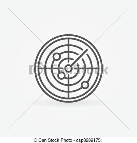 Clipart Vector of Radar icon or logo.