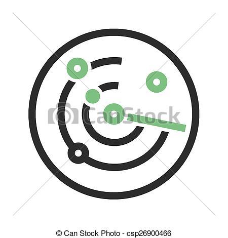 Clip Art Vector of Radar Screen.