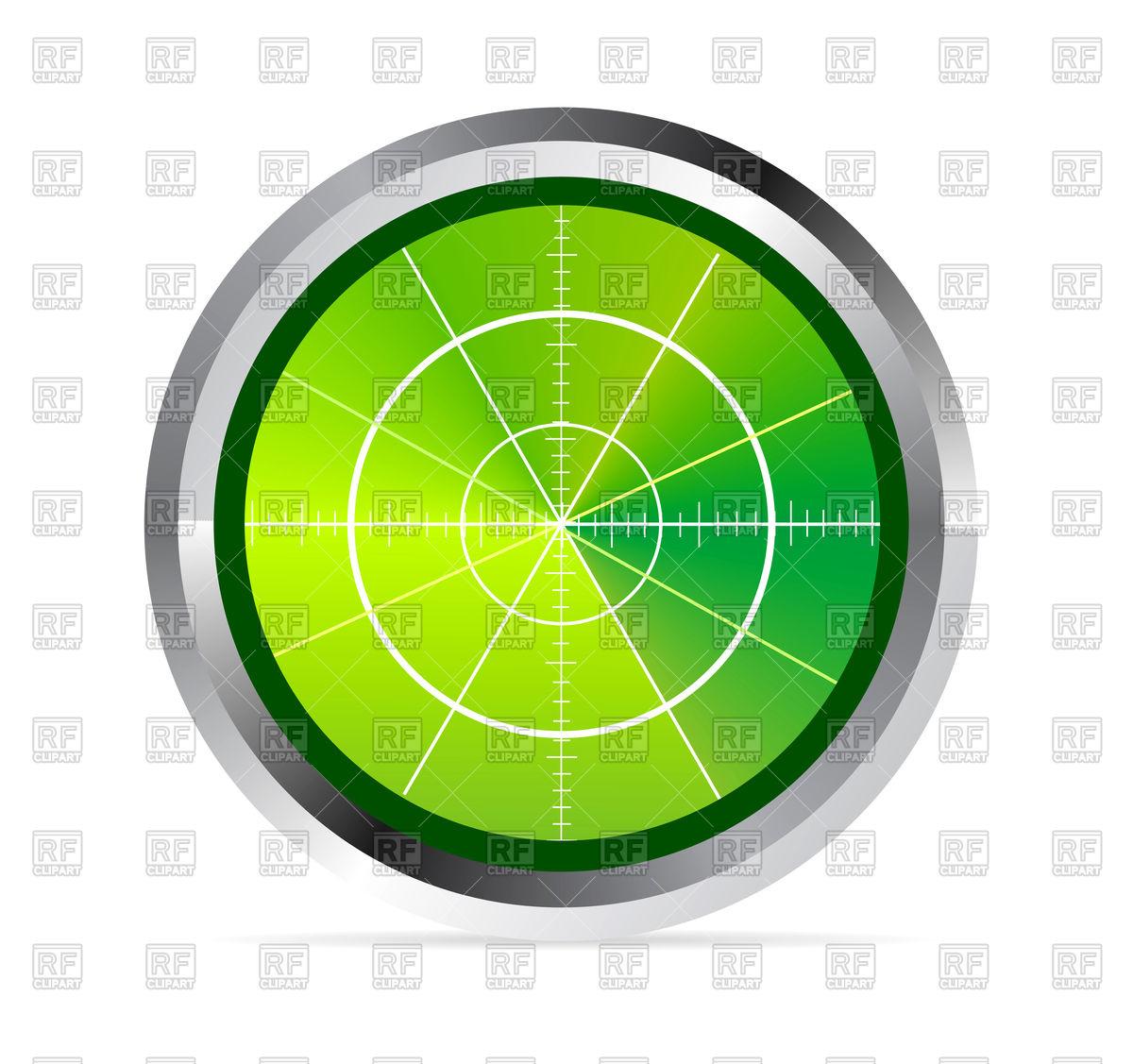 Radar or oscilloscope monitor Vector Image #74175.