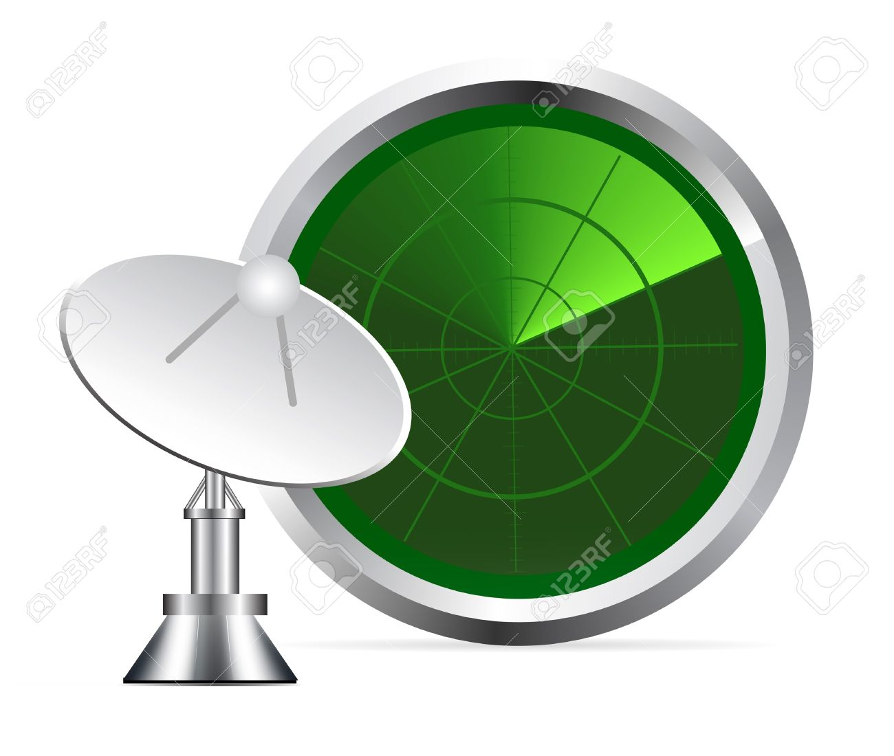 Radar Screen Royalty Free Cliparts, Vectors, And Stock.