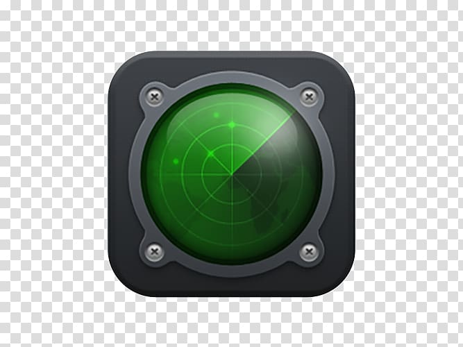 Scanner Radar Icon, Radar scanner transparent background PNG.