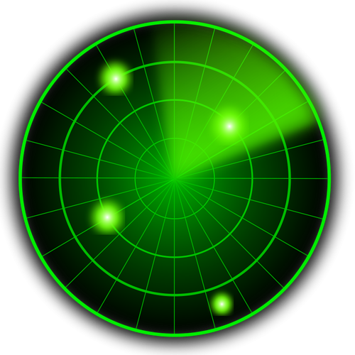 Radar vector graphics.