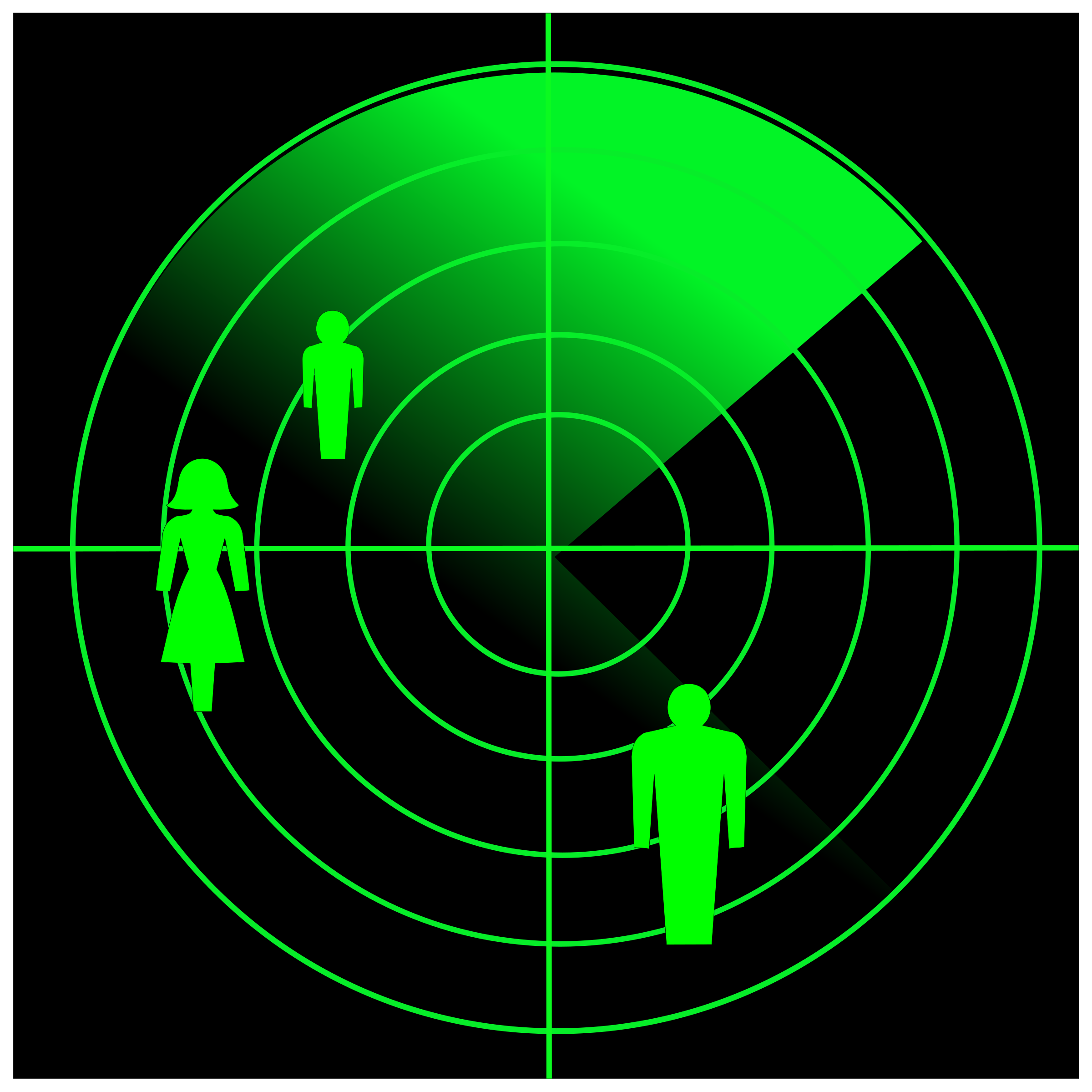 People radar vector clipart image.