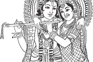 Radha krishna black and white clipart 9 » Clipart Station.