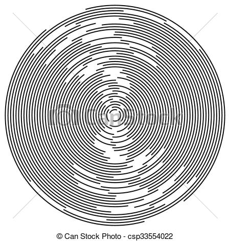 Vector Illustration of Concentric circles abstract element.