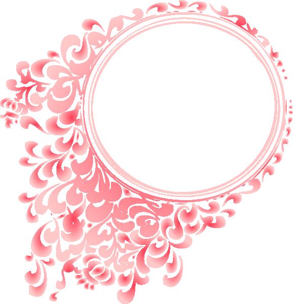 Pink Radial Gradient Circle Border Clip Art at Clker.com.