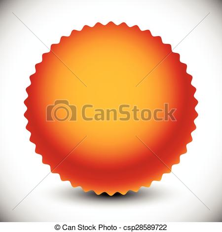 Vector Illustration of Starburst, price flash shape with radial.