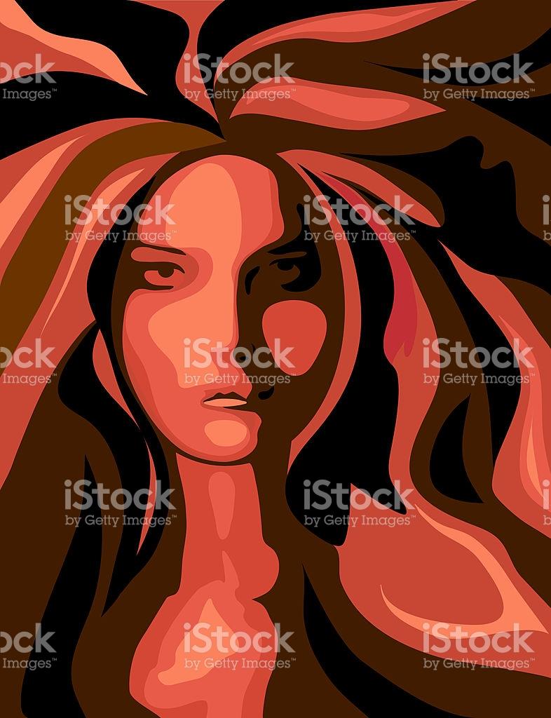 Radiant Woman stock vector art 91683648.
