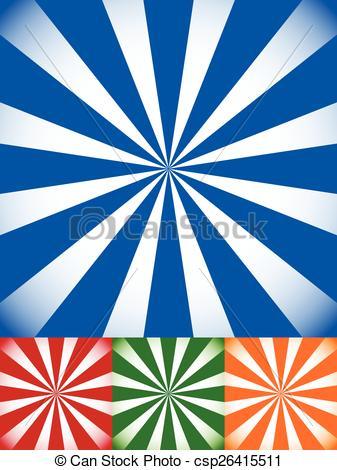 Vector Clip Art of Set of Colorful Sunburst, Starburst Backgrounds.