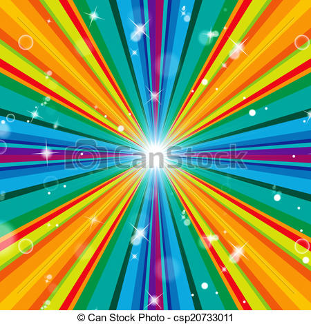 Clipart of Color Background Means Multicolored Radiate And.