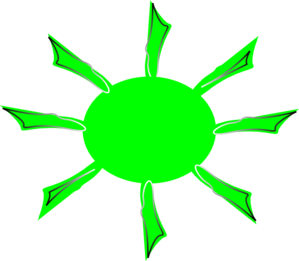 Green Radiating Sun Clip Art at Clker.com.