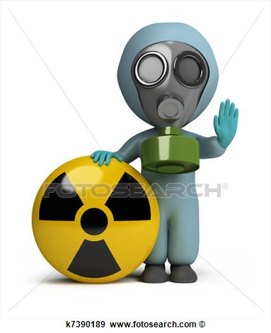 Safety radiation clipart images.