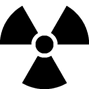 Radiation symbol clip art.