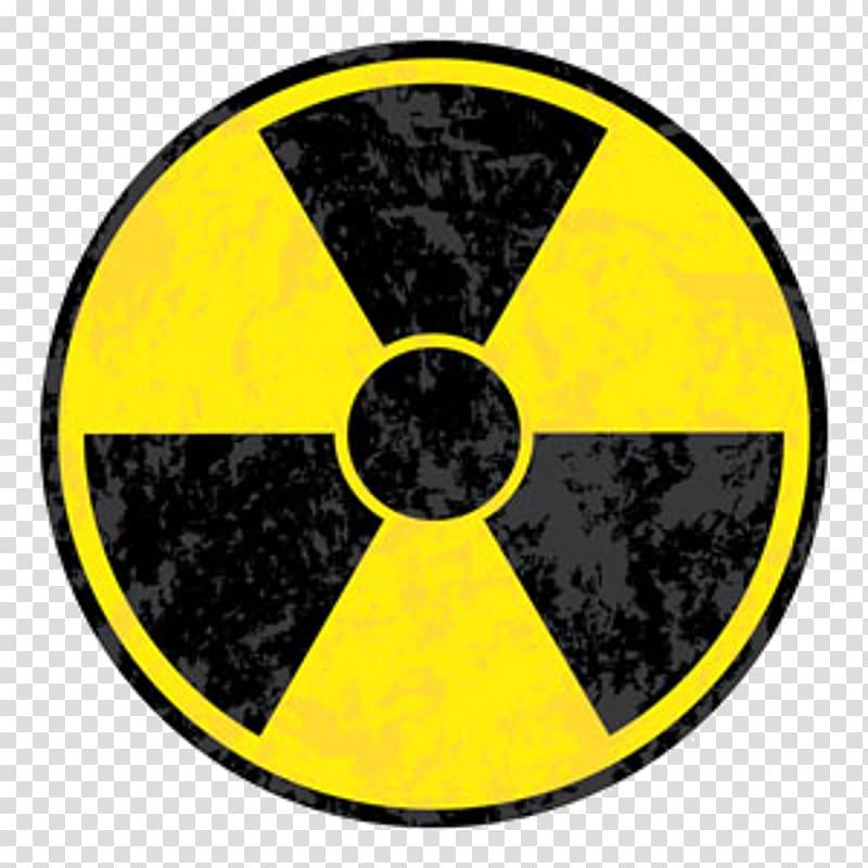Radiation logo illustration, Radiation Radioactive decay.