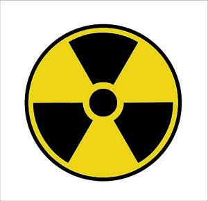 Details about Nuclear Radiation Sign Warning Symbol Bio Hazard Sticker NUKE  Radioactive Hot.