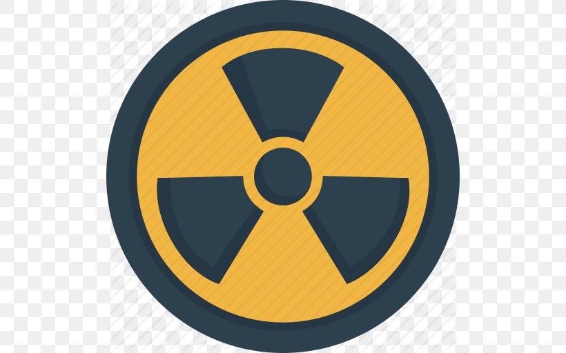 Radiation Symbol Radioactive Decay, PNG, 512x512px.
