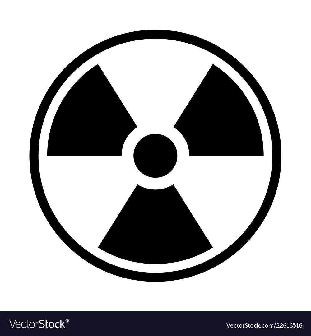 Radioactive material sign symbol of radiation.