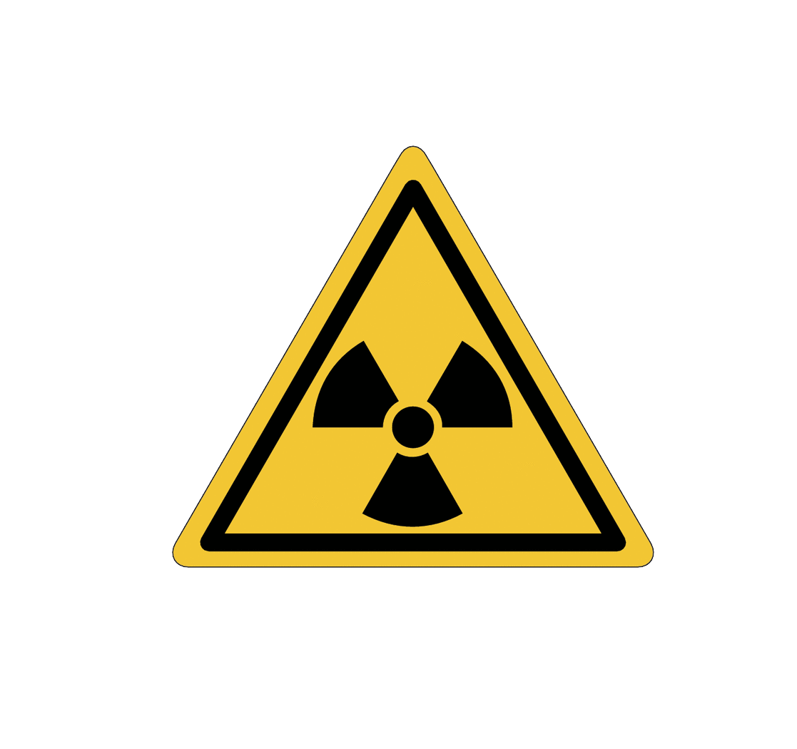 Radiation Warning Png PNG Image.