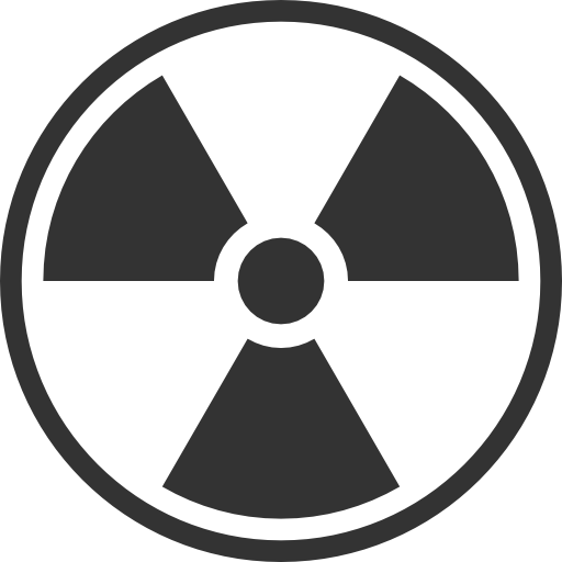 Black and White Radiation Symbol PNG Image.