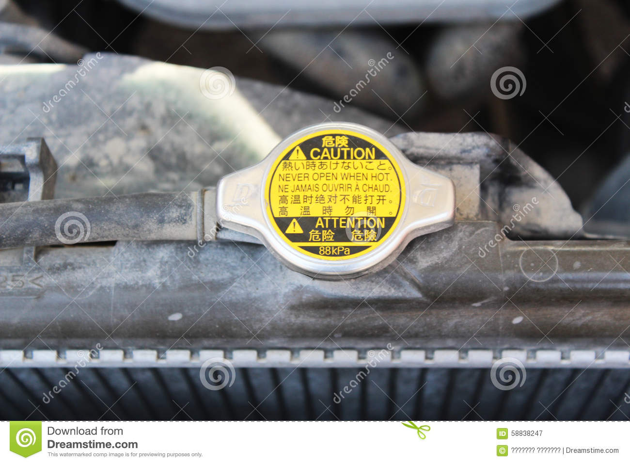 Car Radiator Maintenance Stock Photos, Images, & Pictures.