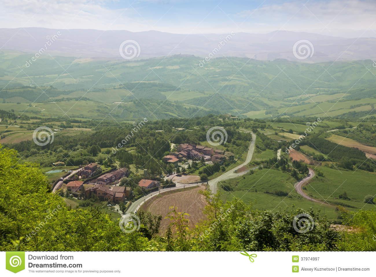 Tuscany Landscape. Radicofani, Italy Royalty Free Stock.