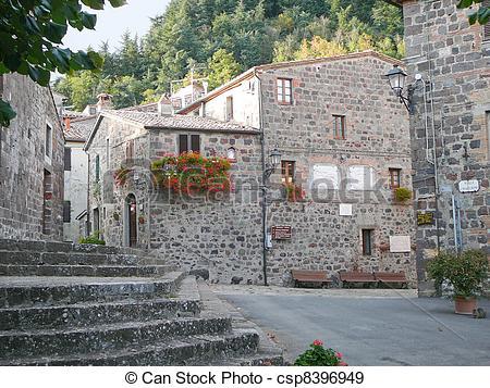 Stock Photographs of Radicofani, Italy.