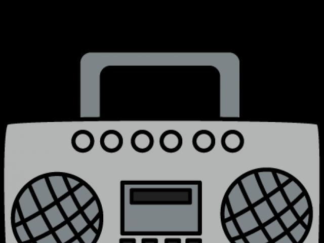 HD Radio Clipart Boombox.
