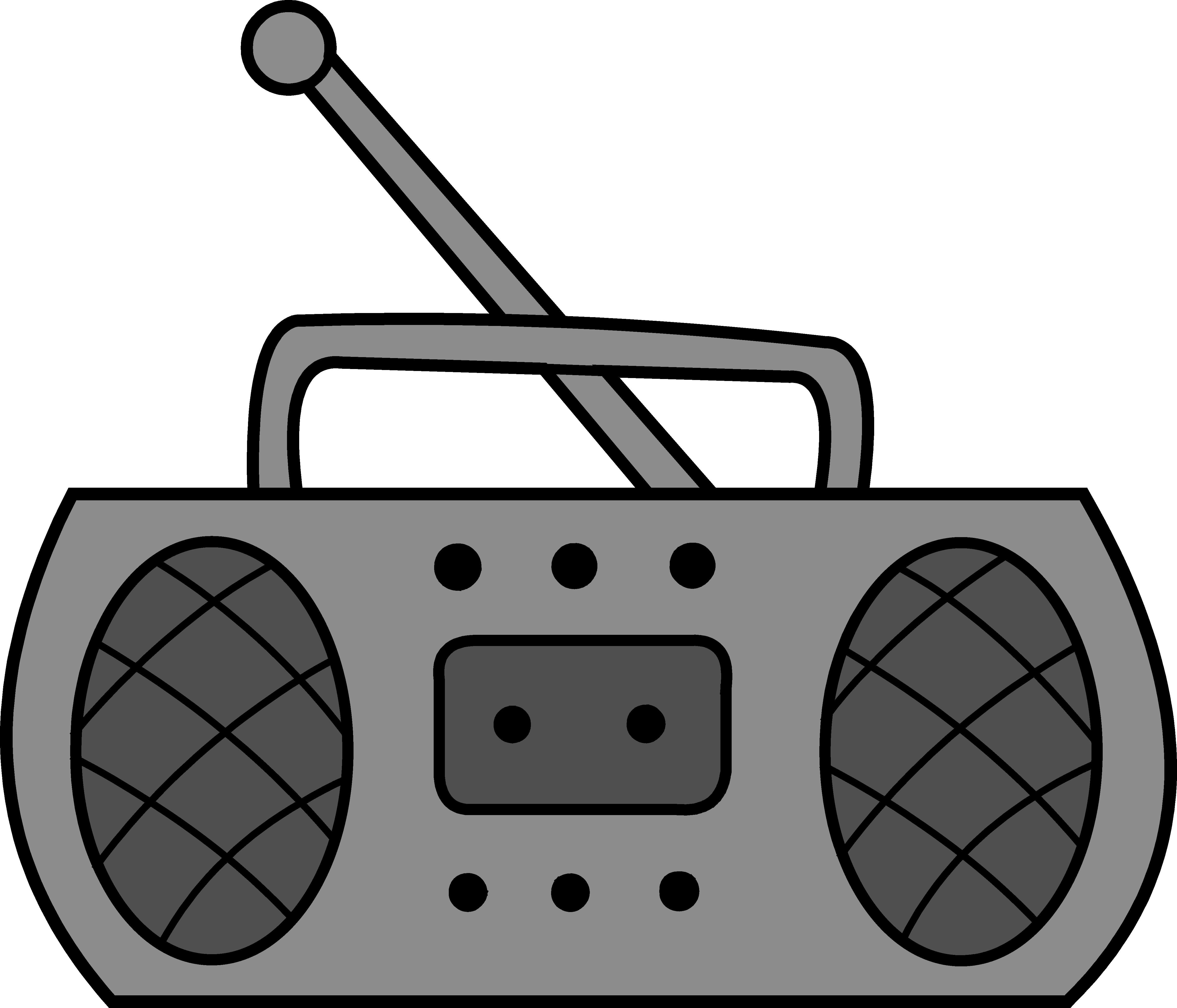 Cute Radio Clipart Design.