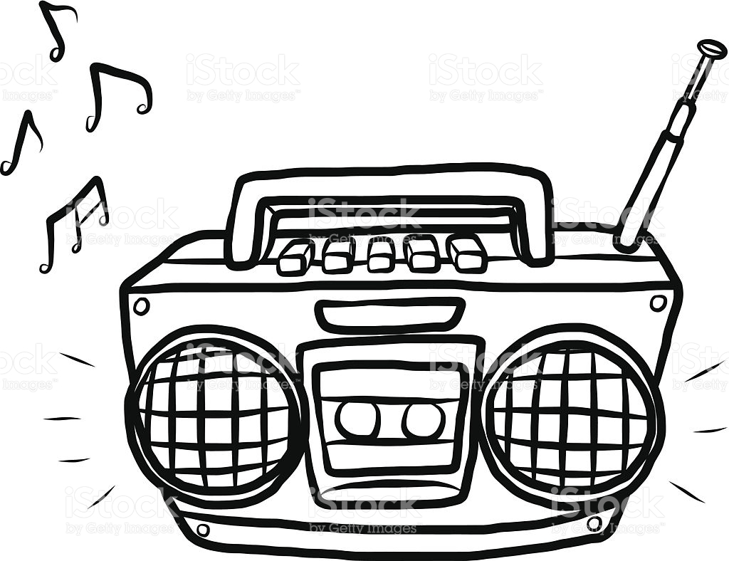 Radio clipart black and white 2 » Clipart Station.