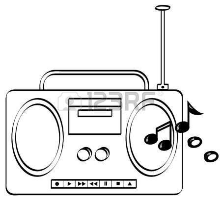 Radio Clipart Black And White.