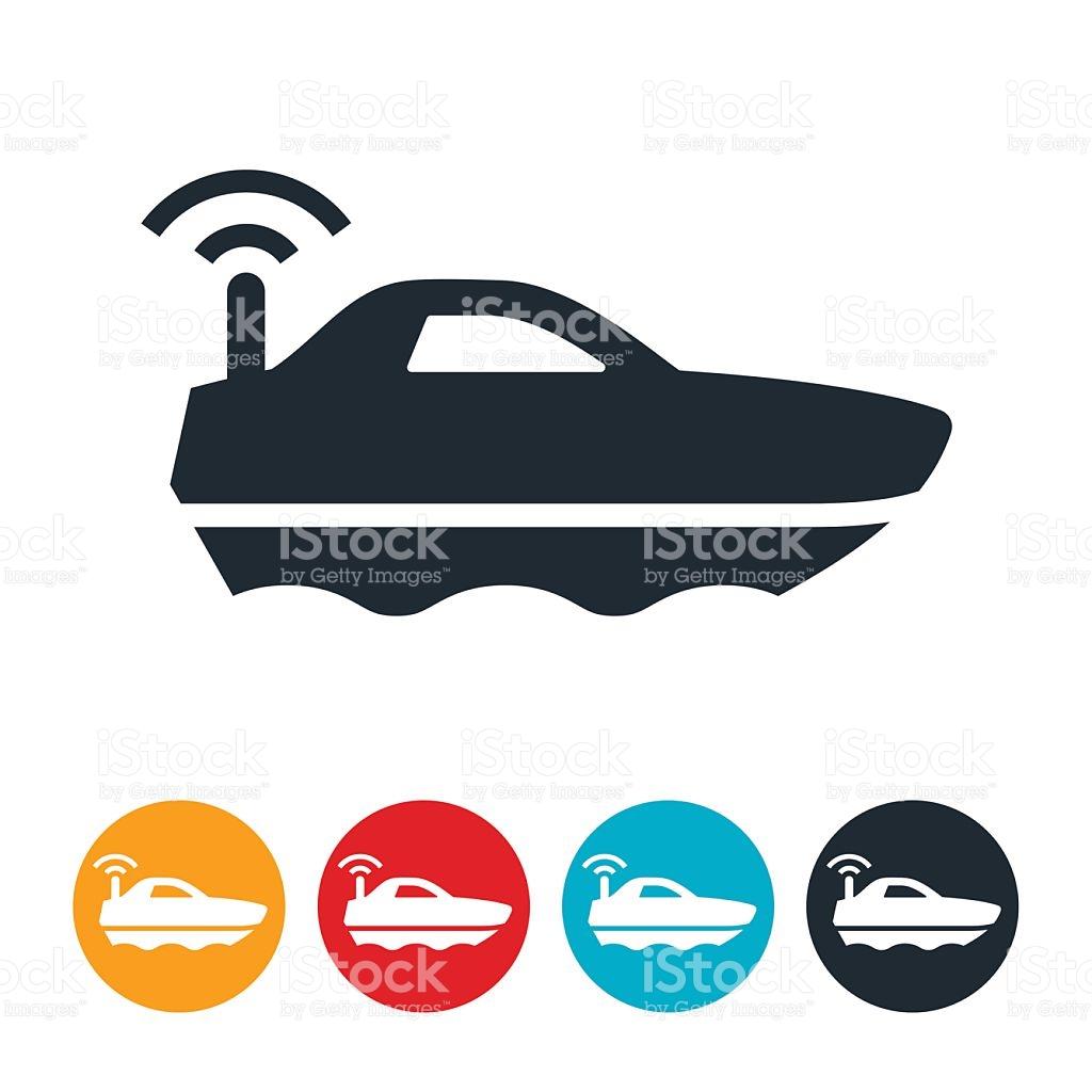 Radio Controlled Boat Icon stock vector art 596816956.
