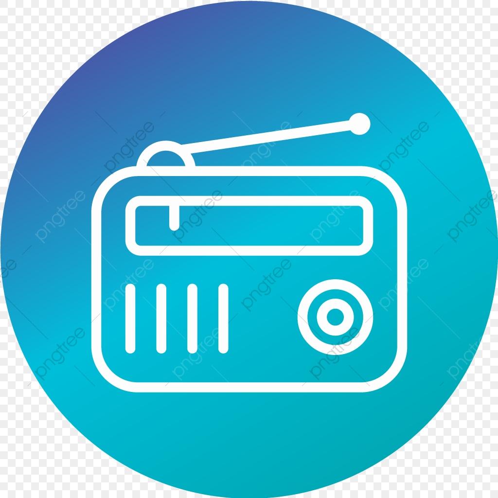 Vector Radio Icon, Radio Icon, Radio Set Icon, Fm Radio Icon.