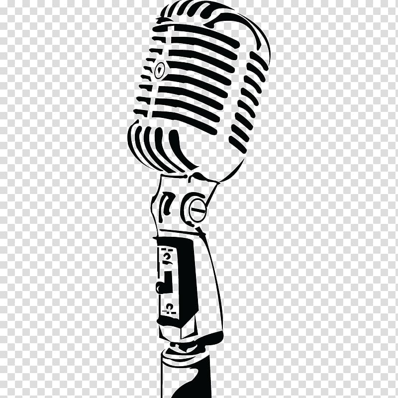 Microphone Music Radio, microphone transparent background.
