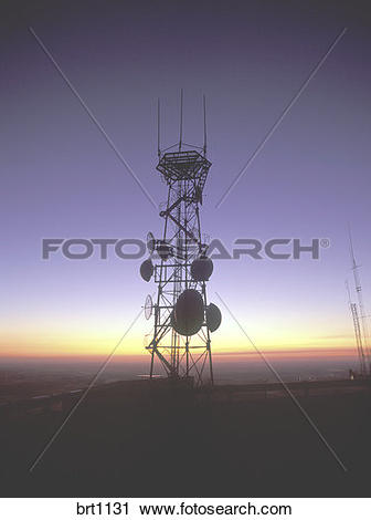 Stock Photography of Telecommunications radio and microwave relay.