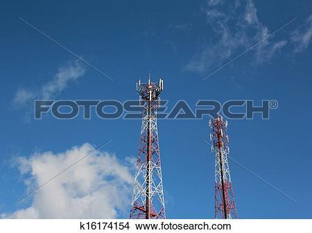 Stock Photo of Radio Relay Link, Mobile Base Station k16174154.