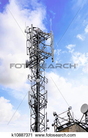 Stock Photography of Radio Relay Link, Mobile Base Station.