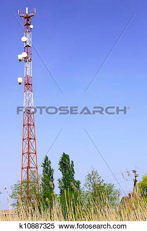 Stock Image of Radio Relay Link, Mobile Base Station. k10887325.