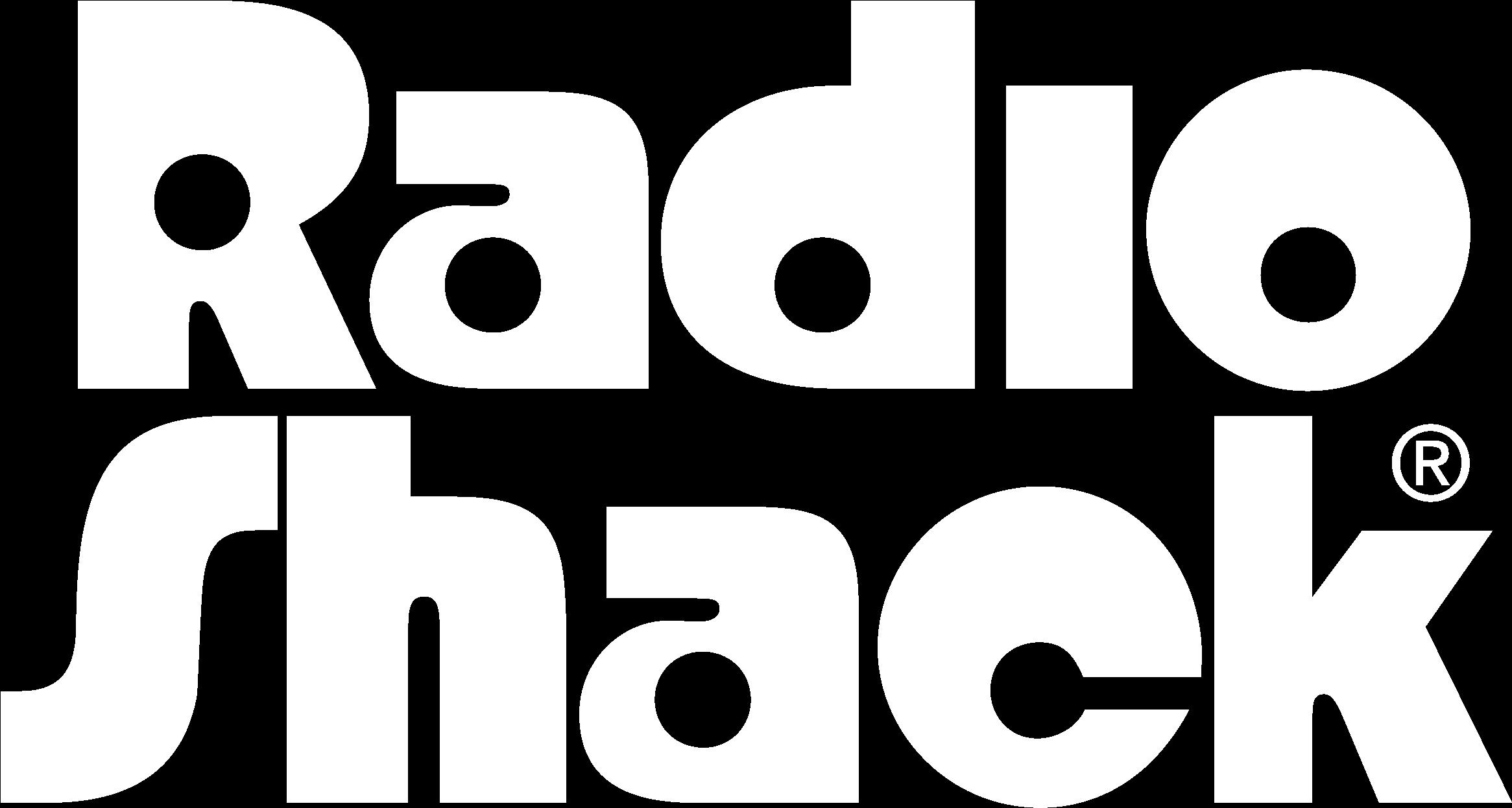 HD Radio Shack Logo Black And White.