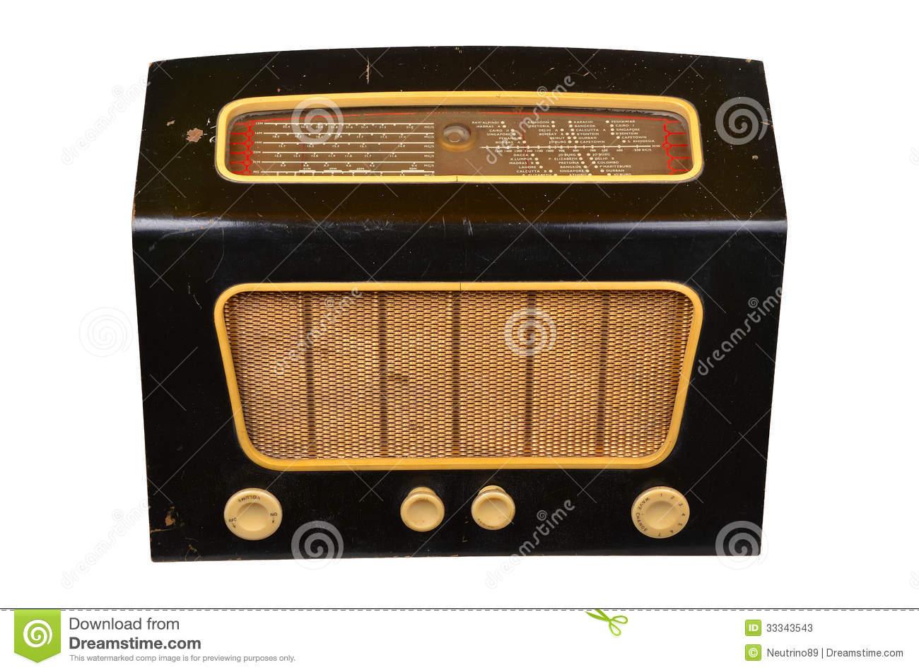 Old Radio Clip Art.