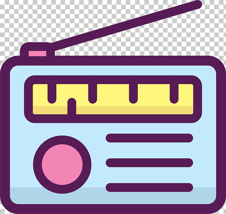 FM broadcasting Radio station , Hand drawn FM radio PNG.