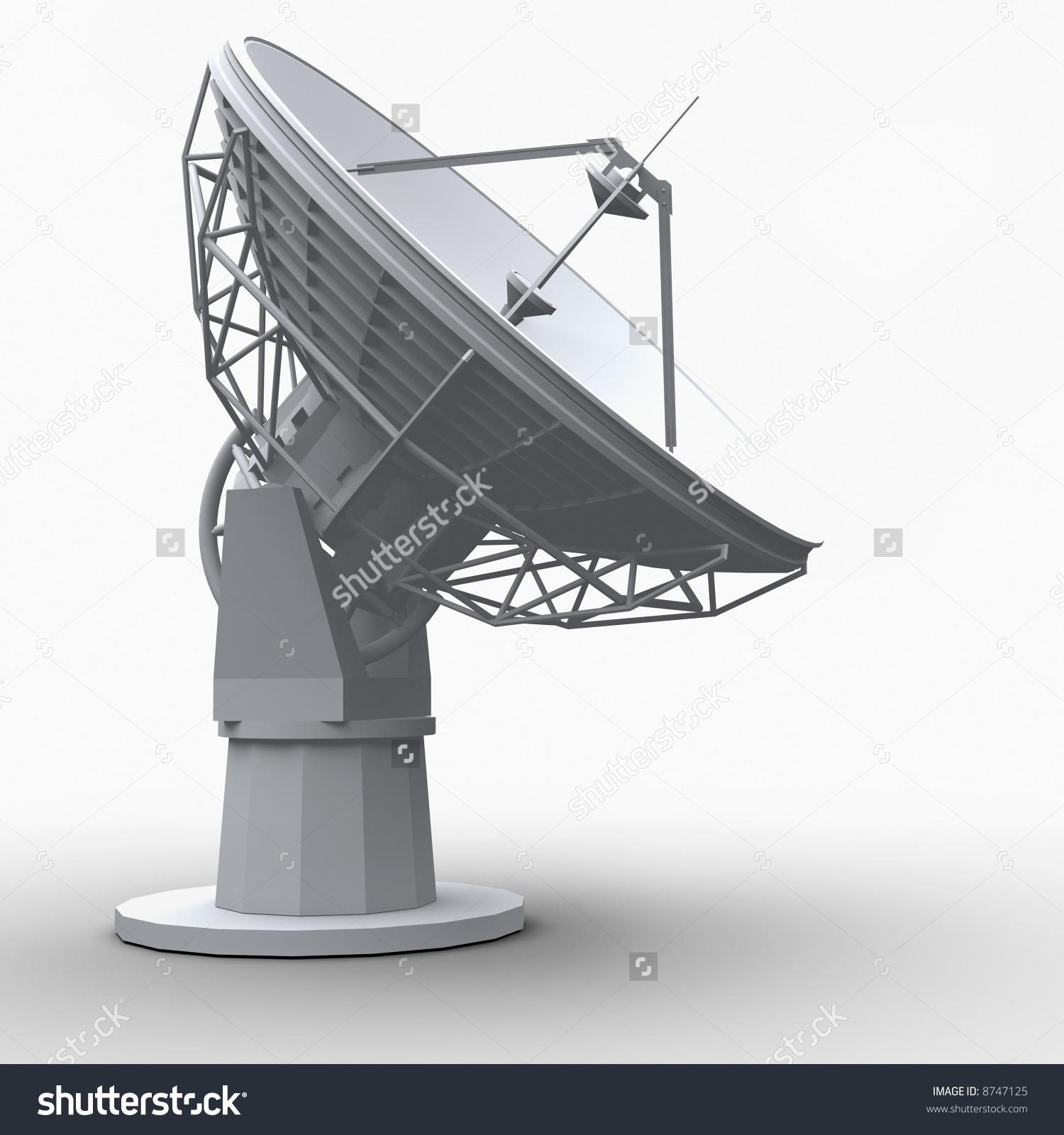 Radiotelescope On White Background Stock Illustration 8747125.