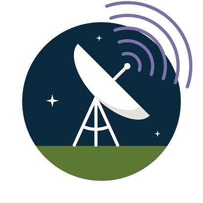 Radio telescope clipart.