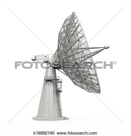 Clipart of radio telescope k9486591.