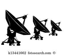 Radio telescope Clip Art and Illustration. 225 radio telescope.