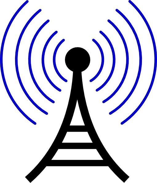 Radio/wireless Tower clip art Free vector in Open office drawing.